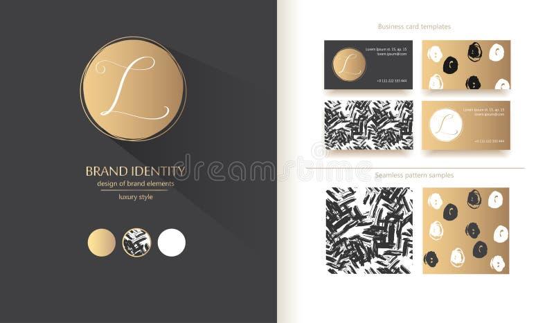 Роскошный шаблон логотипа вектора Изощренный дизайн бренда Каллиграфическое письмо l как вензель бесплатная иллюстрация