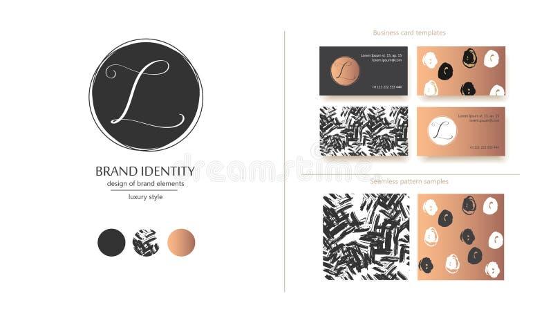 Роскошный шаблон логотипа вектора Изощренный дизайн бренда Каллиграфическое письмо l как вензель иллюстрация вектора