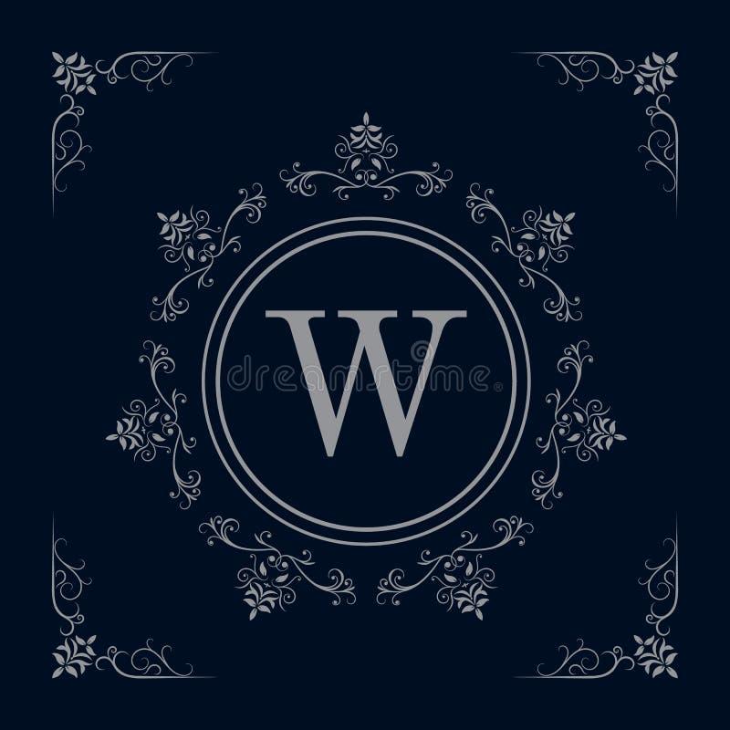 Роскошный шаблон логотипа иллюстрация штока