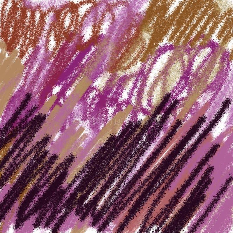 Роскошный экзотический пурпур пинка золота выплеска элементов бесплатная иллюстрация