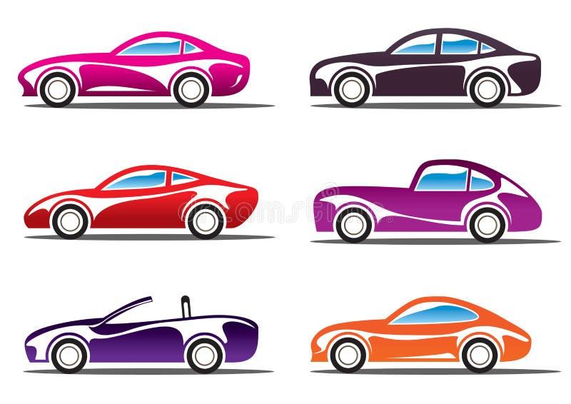роскошь автомобилей silhouettes спорт бесплатная иллюстрация
