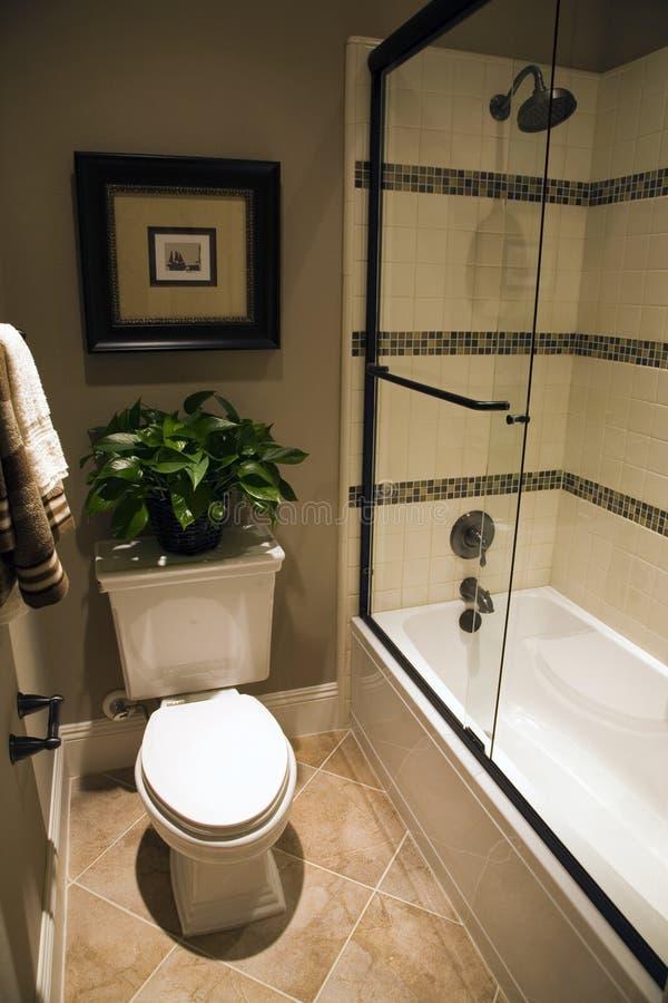роскошь ванной комнаты домашняя стоковое фото