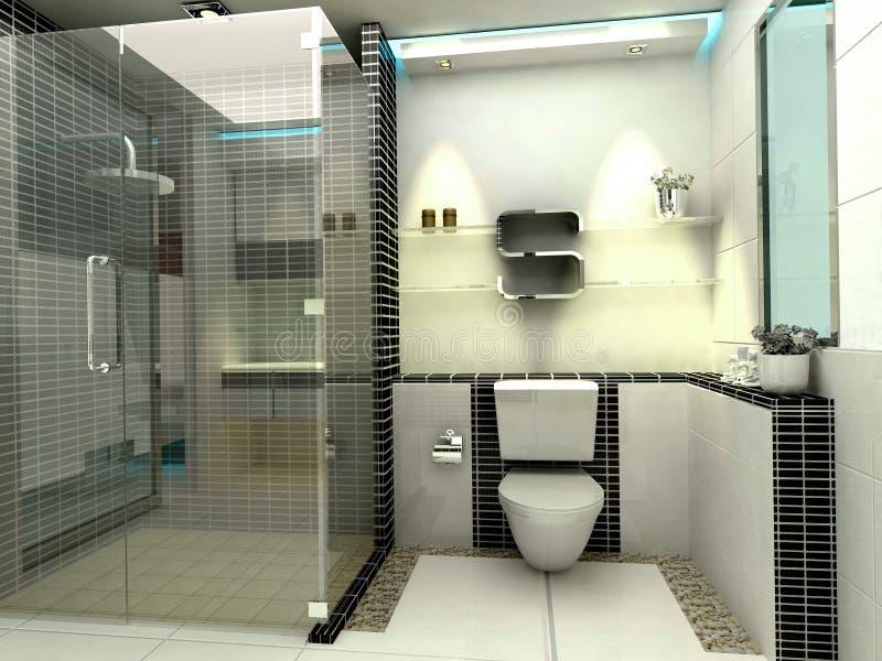 роскошь ванной комнаты самомоднейшая иллюстрация вектора