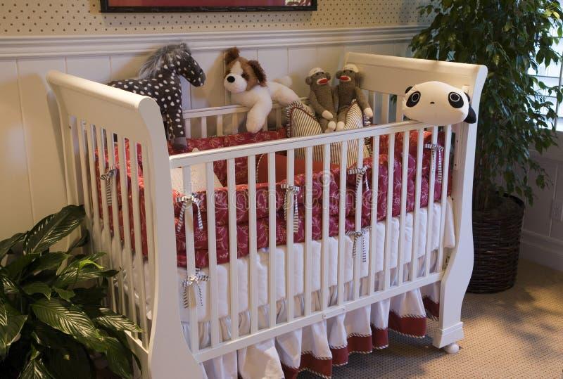 роскошь декора спальни младенца стоковые изображения