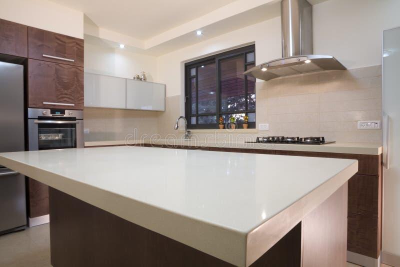 роскошь кухни конструкции стоковое фото