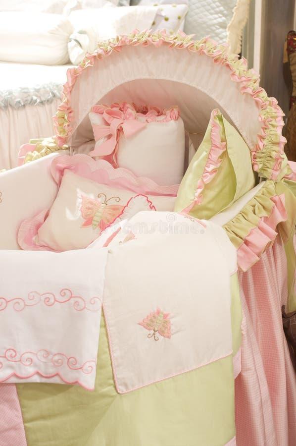 роскошь полотен постельных принадлежностей высококачественная стоковое фото