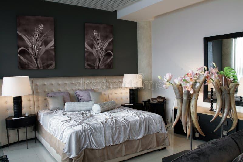 роскошь спальни стоковое изображение rf