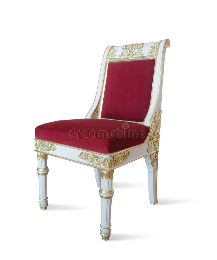 роскошь стула золотистая стоковые фотографии rf