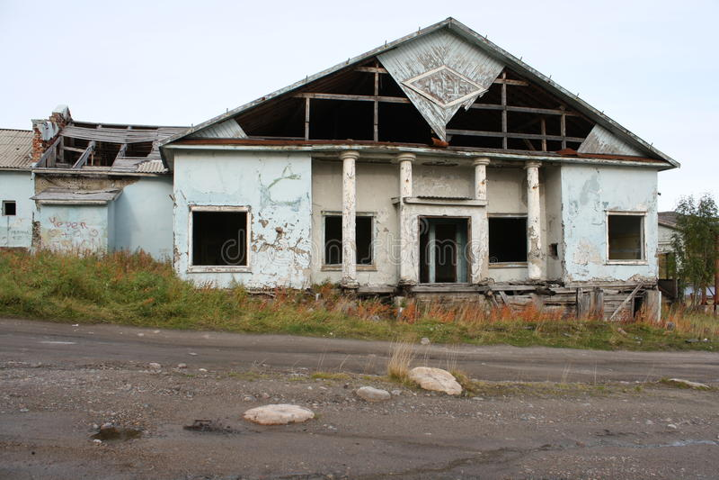 Российская Федерация области Мурманска России покинутая севером стоковое изображение