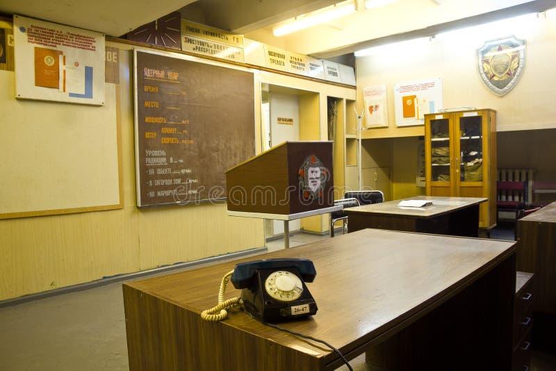 Россия, Воронеж - ОКОЛО 2014: Подземные советские штабы гражданской обороны стоковые изображения rf