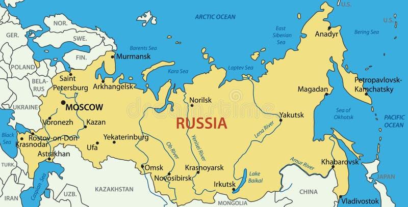Россия - карта бесплатная иллюстрация