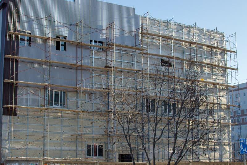 Россия Леса на фасаде зимы стоковые изображения rf