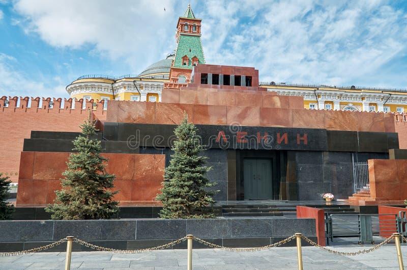 Россия Мавзолей Ленина на красной площади в Москве 25-ое мая 2017 стоковое фото