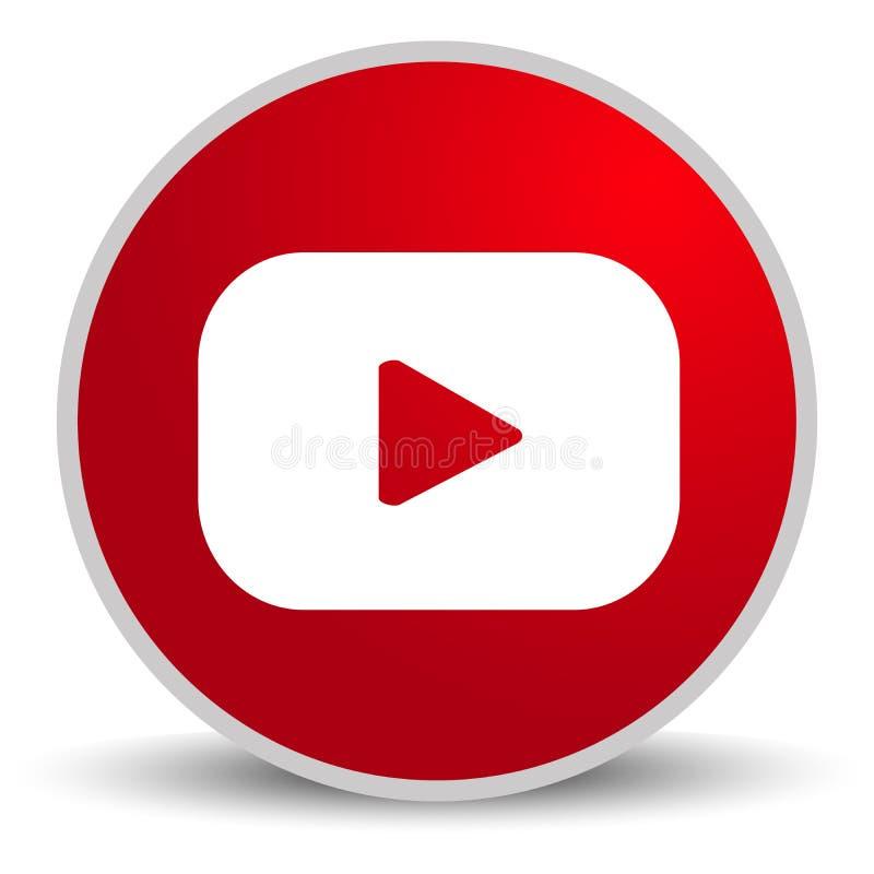 Россия, Москва - 29-ое апреля 2019: Знак логотипа YouTube на белой предпосылке YouTube видео-деля вебсайт иллюстрация вектора