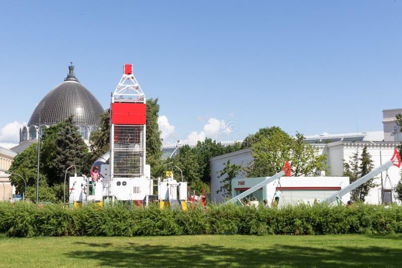 Россия, Москва, VDNKh, спортивная площадка Neftegrad стоковое изображение