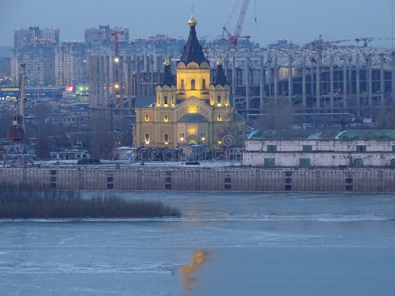 Россия Отключение к центральной России nizhny novgorod Зима стоковое фото rf