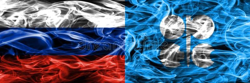 Россия против дыма ОПЕК сигнализирует помещенную сторону - мимо - сторона бесплатная иллюстрация