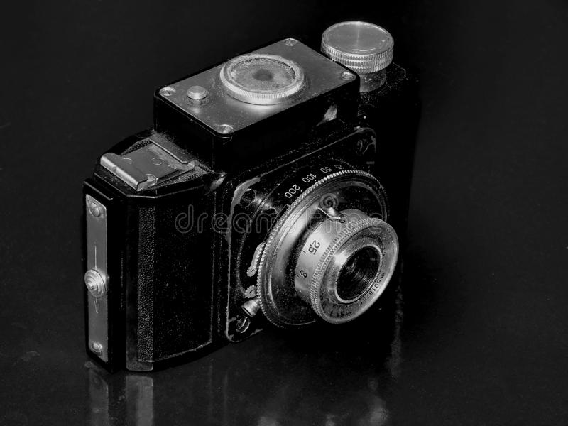 Россия samara 30-ое апреля 2017 Старая фирма камеры фильма изменения на ретро изображении стоковые изображения
