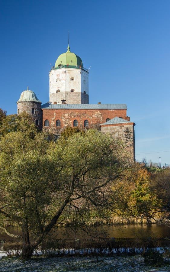 Россия, Vyborg, средневековый скандинавский замок стоковое изображение rf