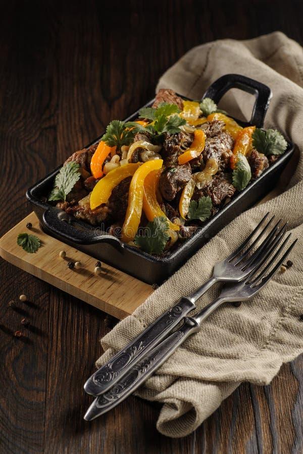 Ростбиф с овощами стоковая фотография rf