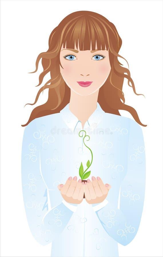 росток девушки бесплатная иллюстрация