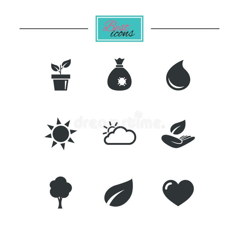 Download Росток, значки лист Знаки сада и погоды Иллюстрация вектора - иллюстрации насчитывающей линия, икона: 81806443