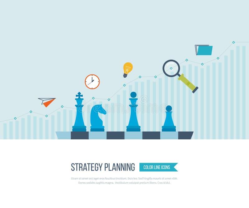 Рост вклада Дело стратегии Инвестиция иллюстрация штока