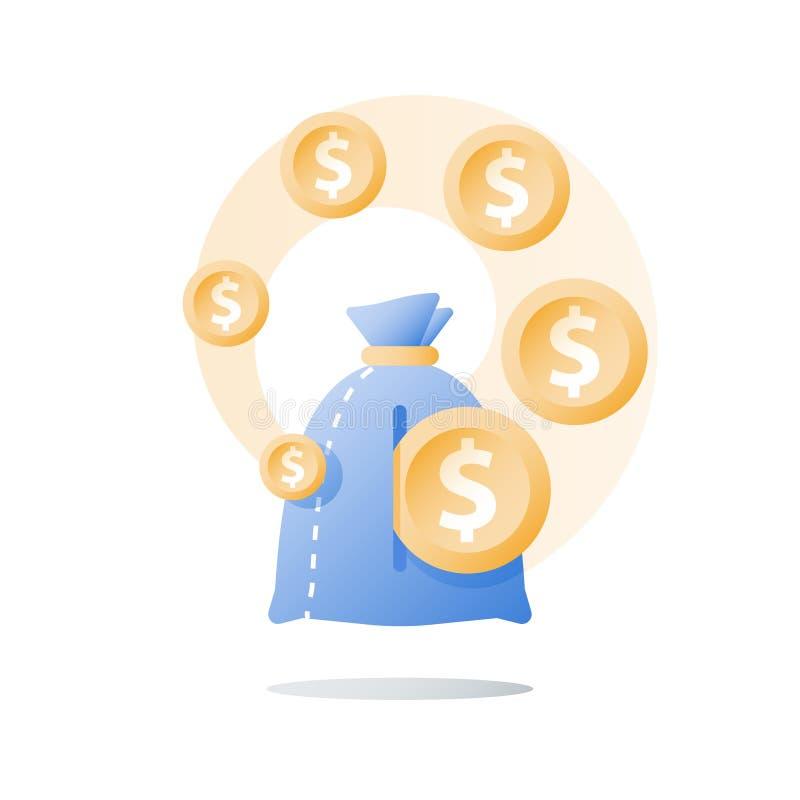 Рост дохода, инвестирует фонд, рост дохода, рентабельность инвестиций, долгосрочное управление богатства, больше денег, высокий и бесплатная иллюстрация
