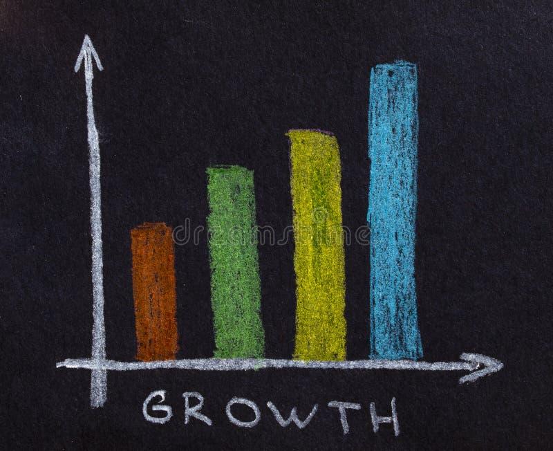 рост принципиальной схемы стоковое фото rf