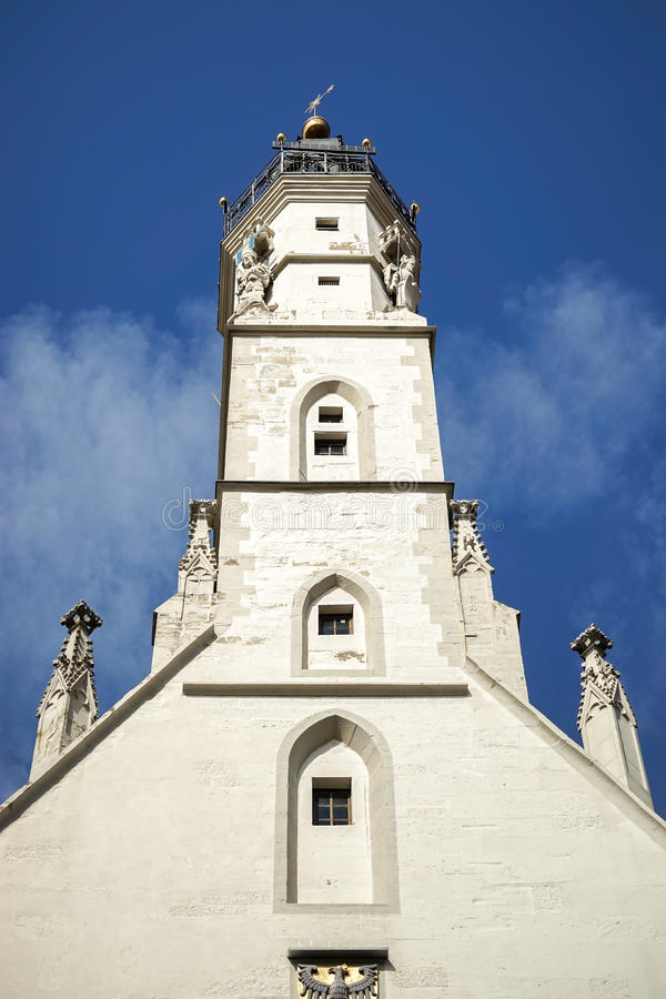РОТЕНБУРГ, GERMANY/EUROPE - 26-ОЕ СЕНТЯБРЯ: Старая башня с часами в r стоковые фотографии rf