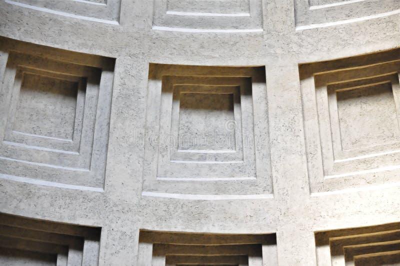 Ротонда пантеона, Рим Coffered стоковые фото