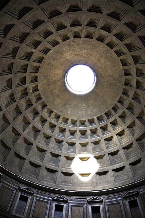 Ротонда пантеона, Рим Coffered стоковые изображения rf