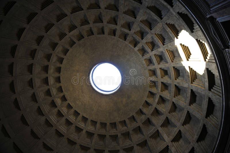 Ротонда пантеона, Рим Coffered стоковые фотографии rf