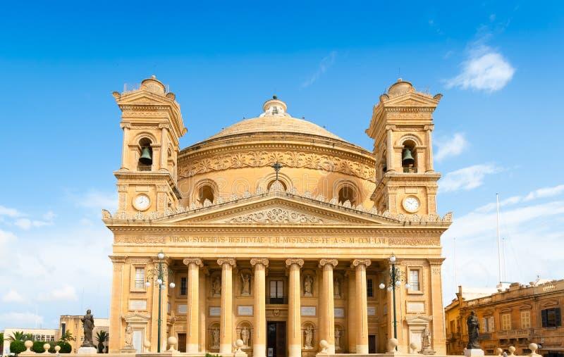 Ротонда Mosta 1860 в Mosta, Мальте стоковые фотографии rf