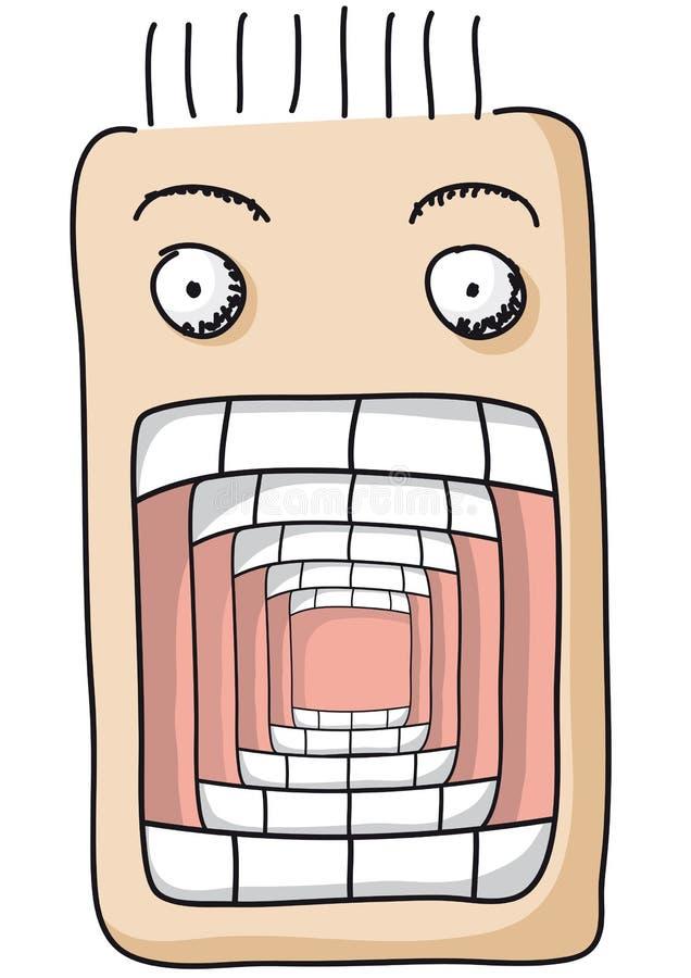 рот открытый иллюстрация штока