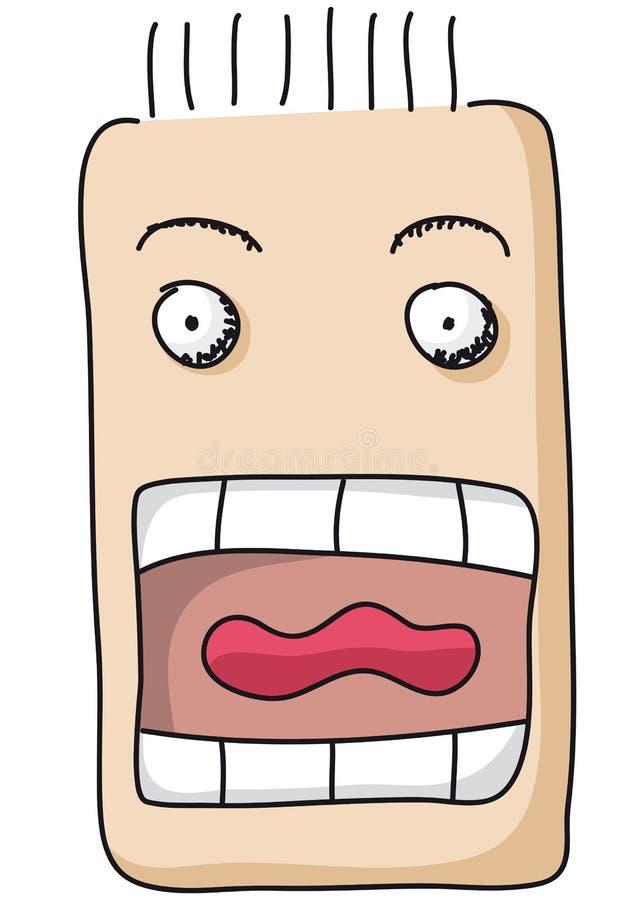 рот открытый иллюстрация вектора