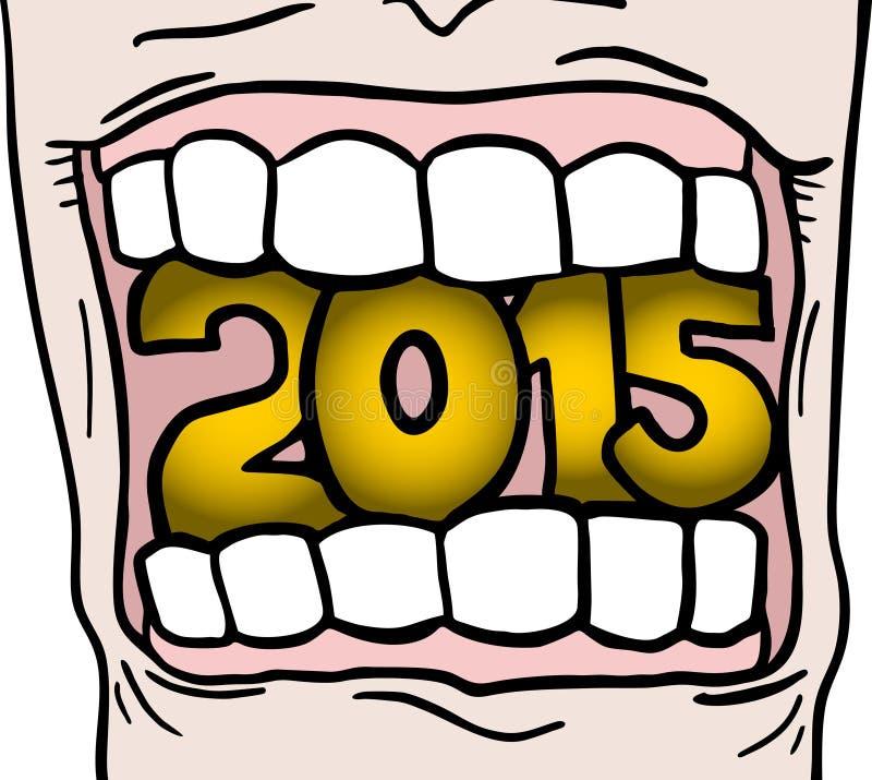 рот 2015 иллюстрация вектора