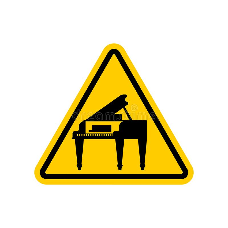Рояль внимания Желтый запрещающий триангулярный дорожный знак Cautio иллюстрация вектора