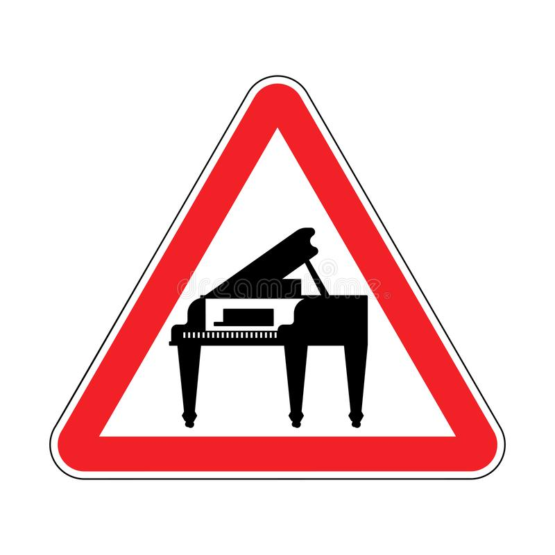 Рояль внимания Красный запрещающий триангулярный дорожный знак Предосторежение m бесплатная иллюстрация