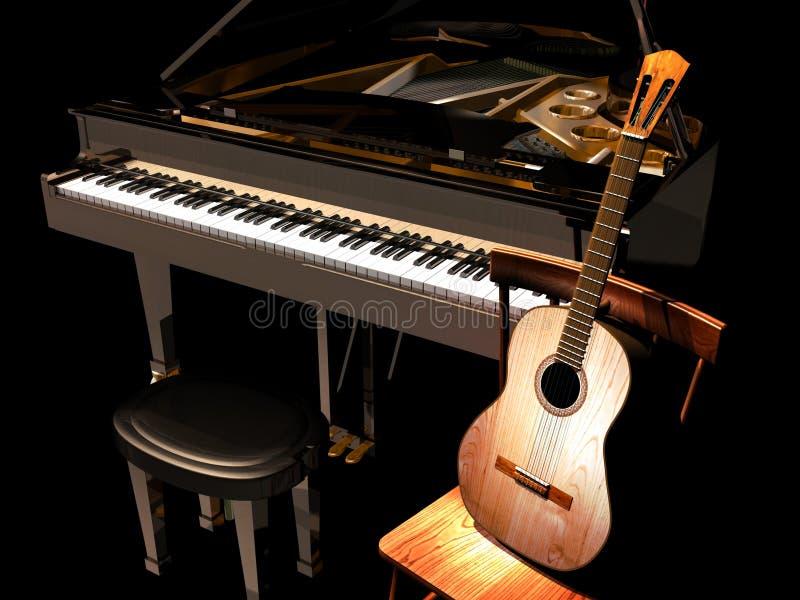 рояль гитары бесплатная иллюстрация