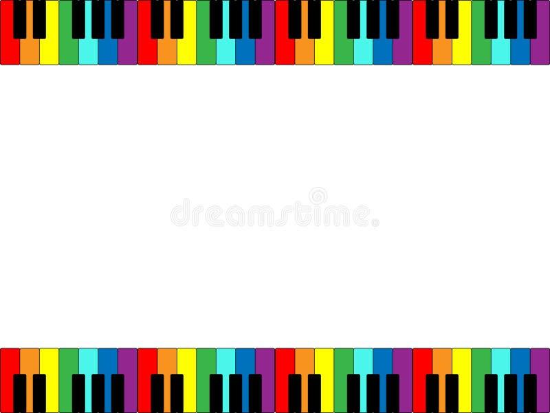 рояль клавиатуры граници Стоковое Изображение