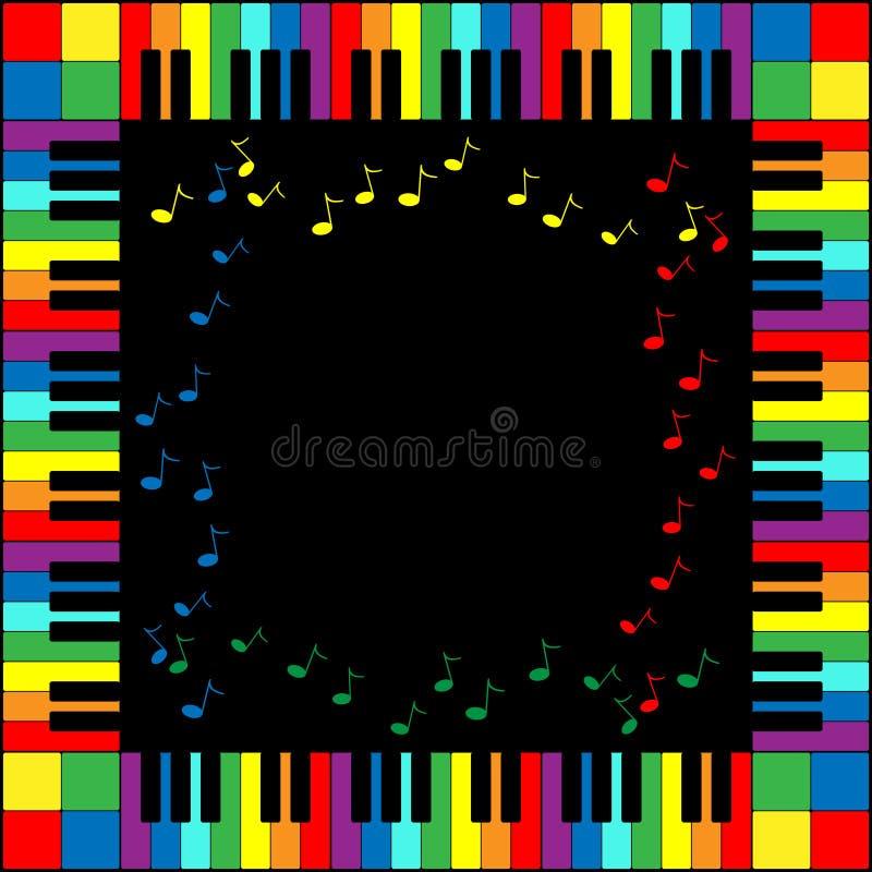 рояль клавиатуры рамки иллюстрация штока