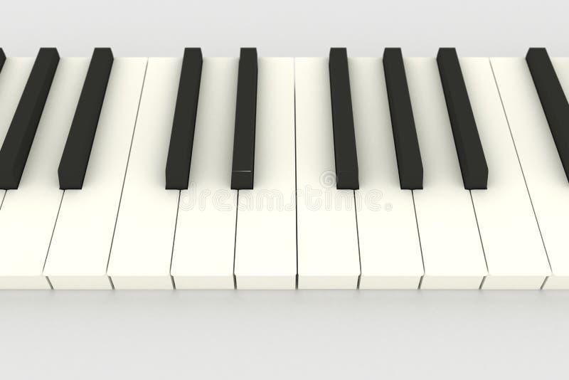 рояль клавиатуры 3d иллюстрация вектора