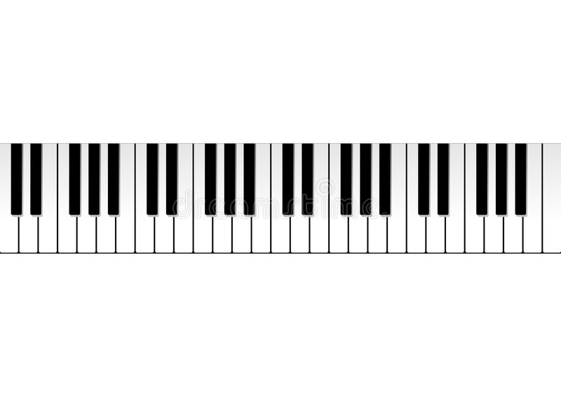 рояль клавиатуры иллюстрация вектора