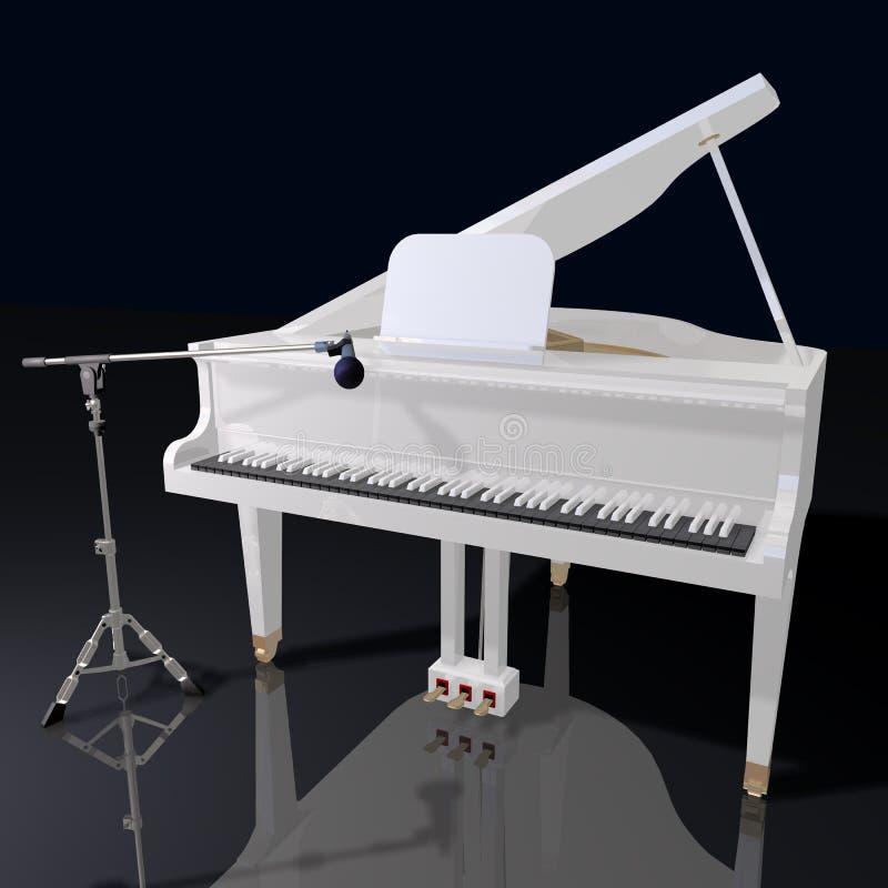 рояль микрофона gand предпосылки черный бесплатная иллюстрация