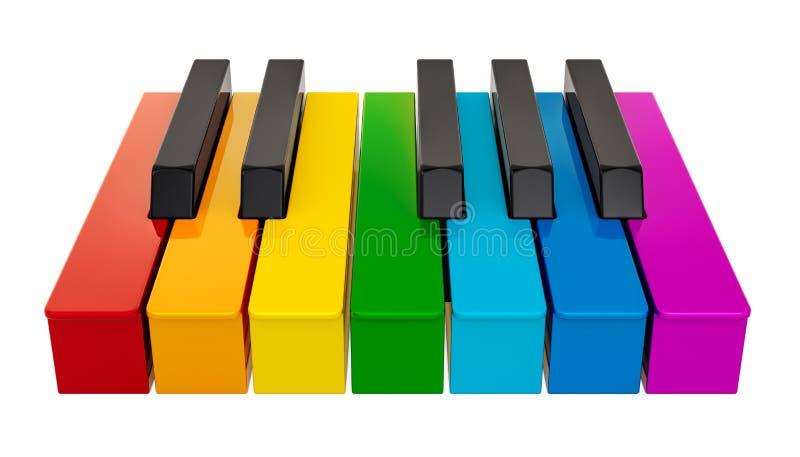 Рояль покрасил клавиатуру, одну октаву нот иллюстрации электрической гитары принципиальной схемы перевод 3d бесплатная иллюстрация