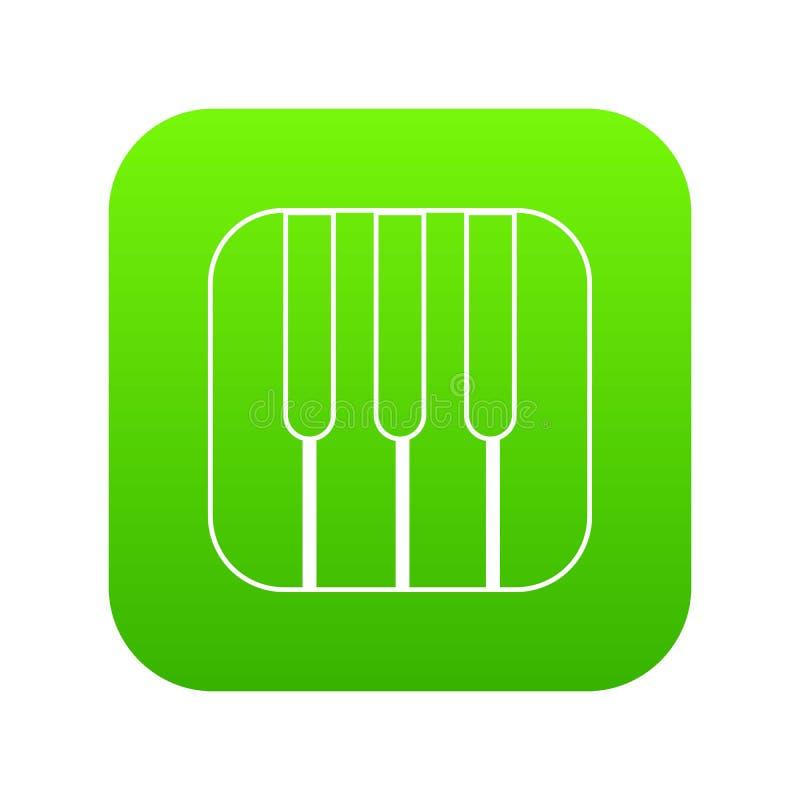 Рояль пользуется ключом вектор значка зеленый иллюстрация штока