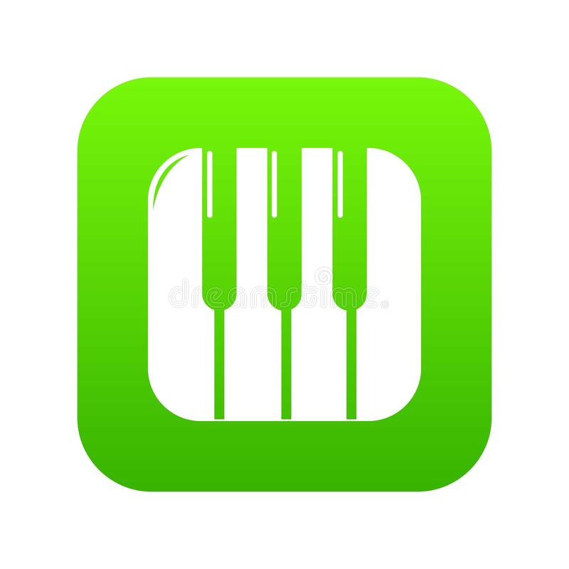 Рояль пользуется ключом вектор значка зеленый иллюстрация вектора