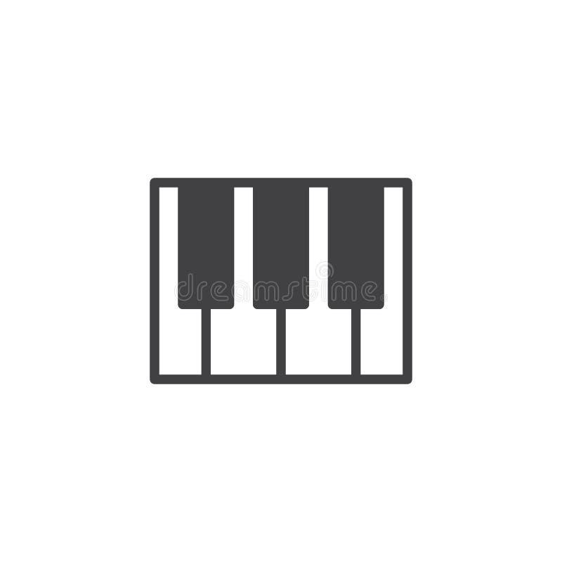 Рояль пользуется ключом вектор значка бесплатная иллюстрация