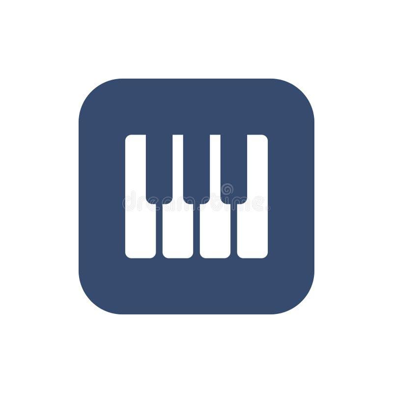 Рояль пользуется ключом значок бесплатная иллюстрация